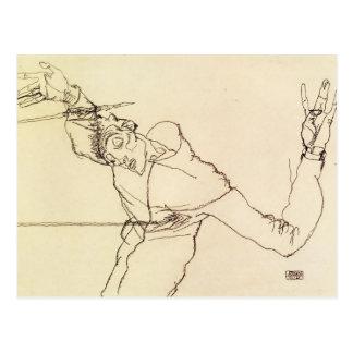 Egon Schiele- Self Portrait as St. Sebastian Postcard