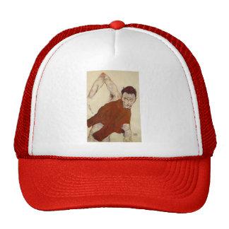 Egon Schiele- Self portrait in a jerkin Trucker Hat