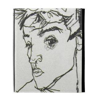 Egon Schiele self-portrait iPad case
