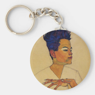 Egon Schiele Self Portrait Keychain
