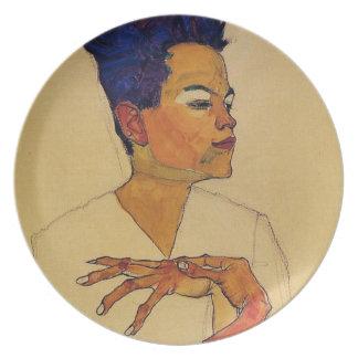 Egon Schiele Self Portrait Plate