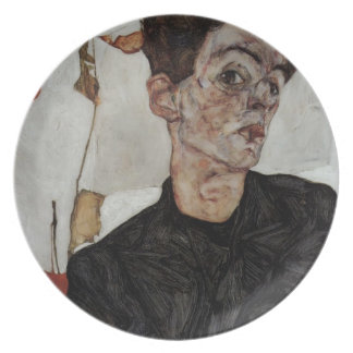 Egon Schiele- Self-Portrait with lantern fruits Plates