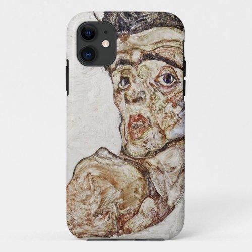 Egon Schiele - Self Portrait with Raised Shoulder Phone Case