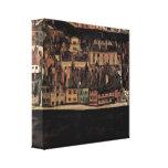 Egon Schiele - small town Gallery Wrap Canvas