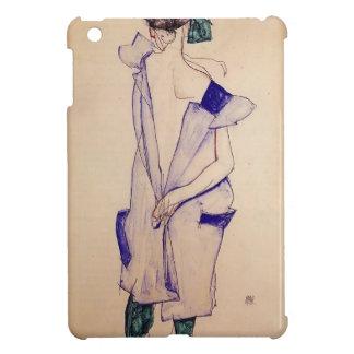 Egon Schiele- Standing Girl in a Blue and Green iPad Mini Case