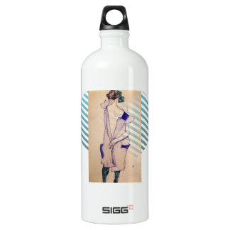 Egon Schiele- Standing Girl in a Blue and Green SIGG Traveler 1.0L Water Bottle