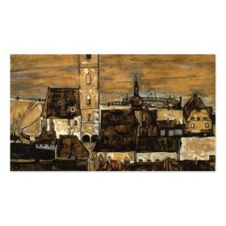 Egon Schiele- Stein on the Danube,from Kreuzberg Business Cards