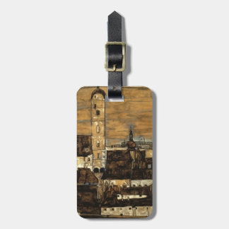Egon Schiele- Stein on the Danube,from Kreuzberg Tags For Luggage