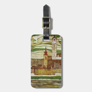 Egon Schiele- Stein on the Danube, Seen from South Tag For Luggage