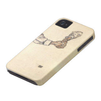 Egon Schiele- Study of hands iPhone 4 Covers