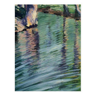 Egon Schiele- Trees Mirrored in a Pond Postcard