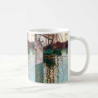 "Egon Schiele, ""Triest Port"" Coffee Mug"