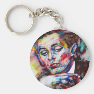 egon schiele - watercolor portrait keychain