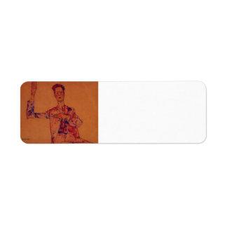 Egon Schiele- Willy Lidl Return Address Label
