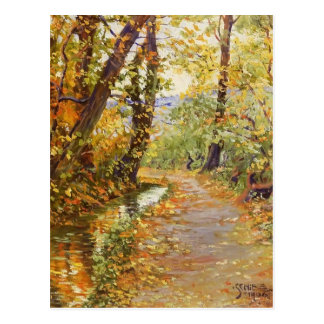 Egon Schiele- Winding Brook Postcard