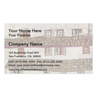 Egon Schiele- Windows (Facade of a House) Double-Sided Standard Business Cards (Pack Of 100)