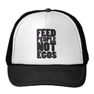 Egos de la gente de la alimentación no gorras de camionero