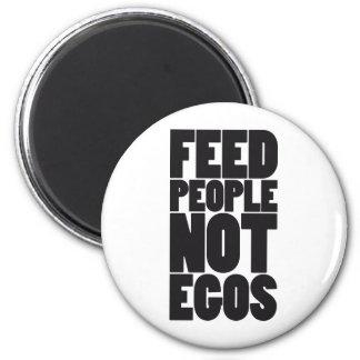 Egos de la gente de la alimentación no iman de frigorífico