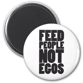 Egos de la gente de la alimentación no iman para frigorífico