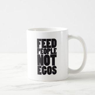Egos de la gente de la alimentación no tazas de café