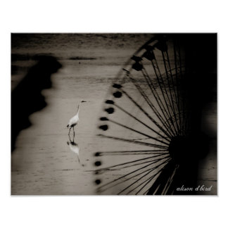 """Egret a través de la noria 14"""" x 11"""" poster"""