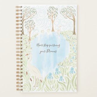 Egret and Irises Planner