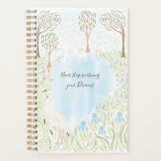 Egret and Irises Planner