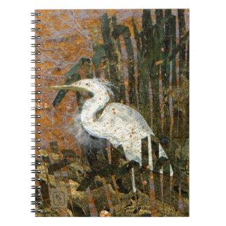 Egret At Sunset Notebook