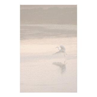Egret at Wetlands Pond Stationery