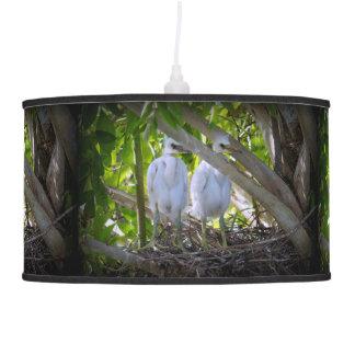 Egret Babies Hanging Lamp
