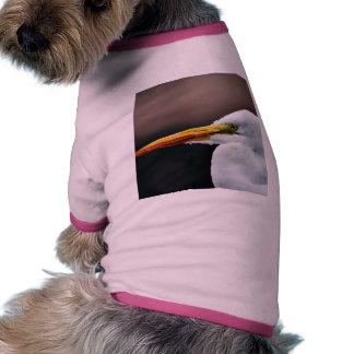 Egret Bird Animal Doggie T-shirt