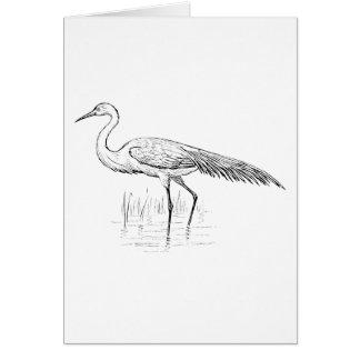 Egret Bird Art Card
