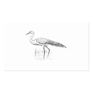 Egret Bird Art Double-Sided Standard Business Cards (Pack Of 100)