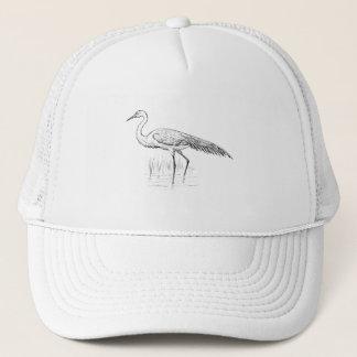 Egret Bird Art Trucker Hat