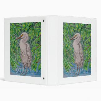 Egret bird binder