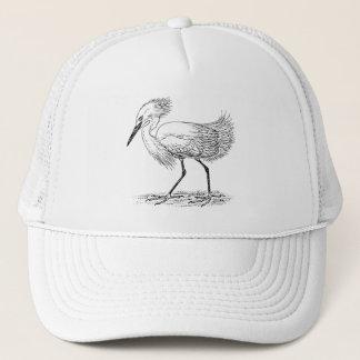 Egret Bird Illustration Trucker Hat
