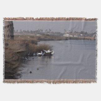 Egret Bird Wildlife Animals Bolsa Chica Blanket