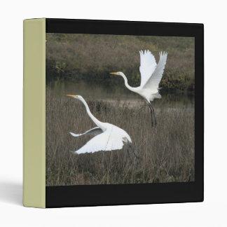 Egret Bird Wildlife Animals Wetlands Photography Binder