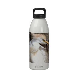 Egret blanco de lujo botellas de agua reutilizables