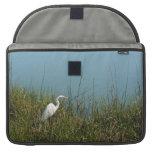 Egret blanco que se coloca en agua de la hierba w funda macbook pro