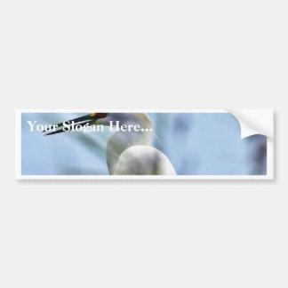 Egret Car Bumper Sticker