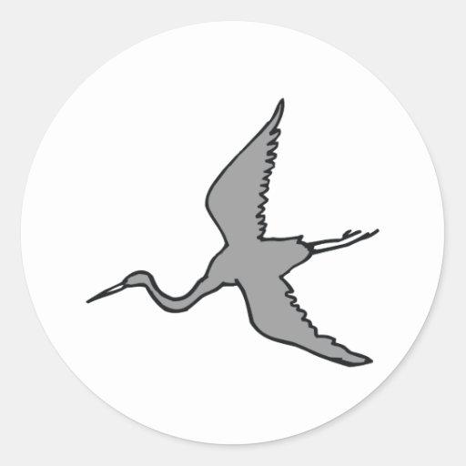 Egret de Ebenezer Pegatina Redonda