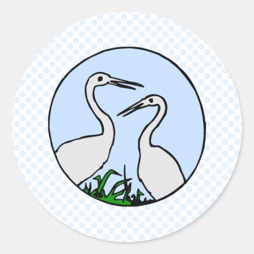 Egret de Effie y de Efrain Pegatina Redonda