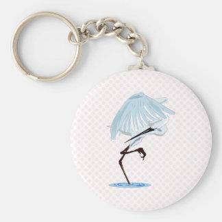 Egret de Eggy Llavero Redondo Tipo Pin