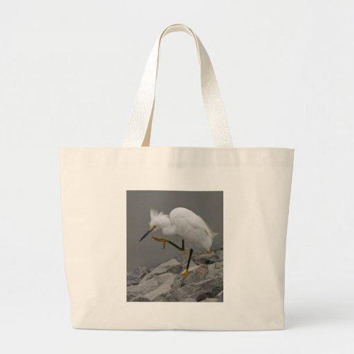 Egret del baile bolsa tela grande