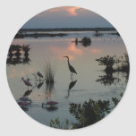 Egret del punto negro etiquetas redondas