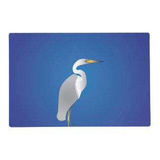 Egret en la playa salvamanteles