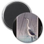 Egret en lluvia de Seitei Watanabe 1851 - 1918 Iman
