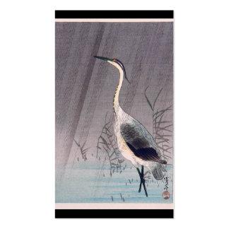 Egret en lluvia de Seitei Watanabe 1851 - 1918 Tarjetas De Visita