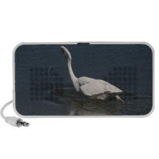 Egret Fishing Doodle Speaker